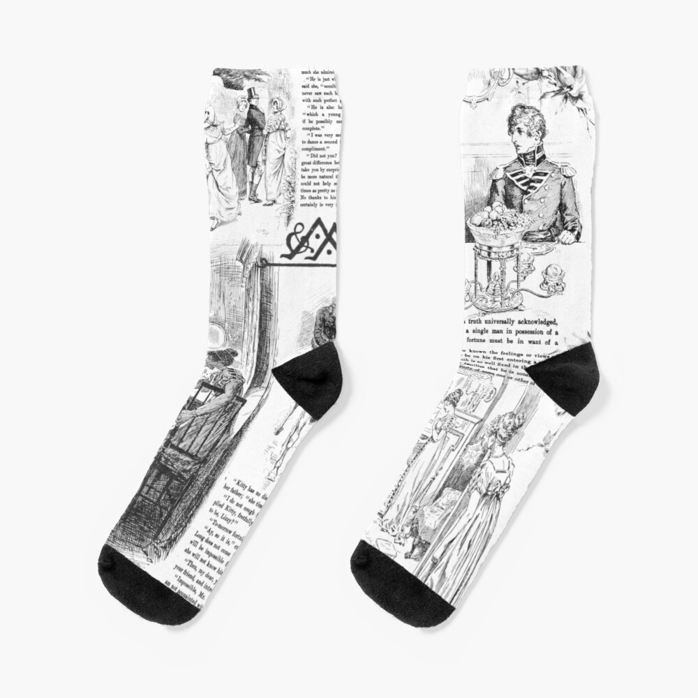 Pride and Prejudice - Pages Socks