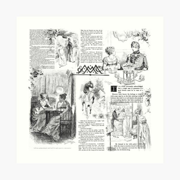 Pride and Prejudice - Pages Art Print