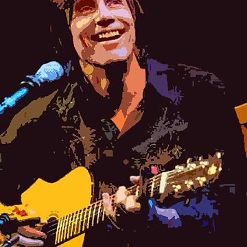 Jackson Browne- Smiling with Guitar by nitsirk51