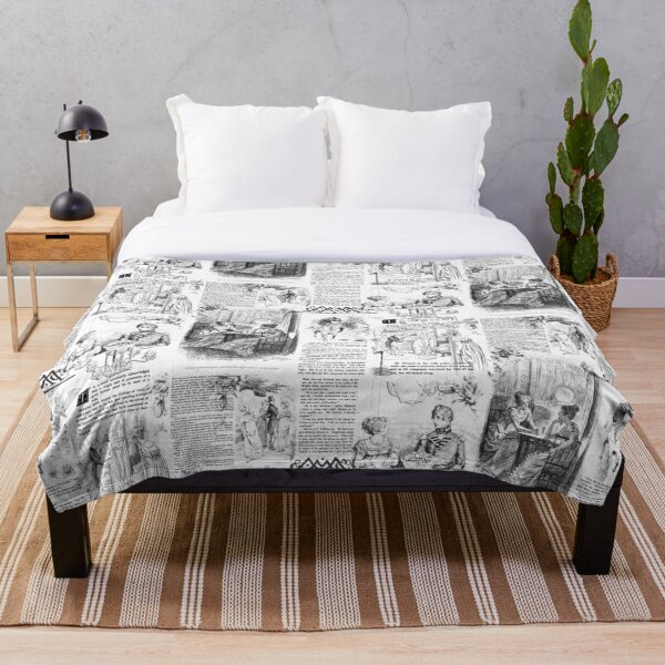 Pride and Prejudice - Pages Throw Blanket