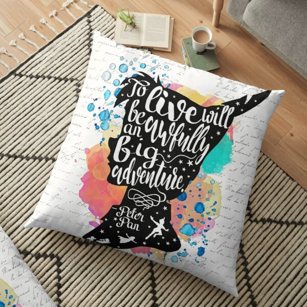 Peter Pan - To Live Floor Pillow
