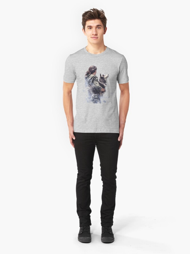 Alternate view of Fat Wolf - Arctic Companion Slim Fit T-Shirt