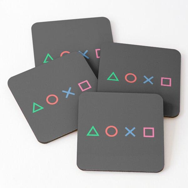 Triangle Circle X Square Coasters (Set of 4)