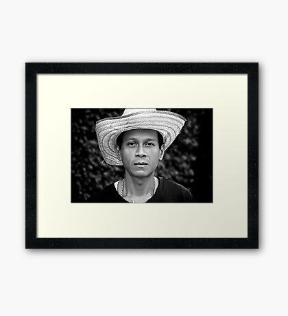 I Will Not Smile Framed Print
