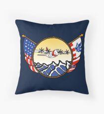 Flags Series - US Coast Guard C-130 Hercules Throw Pillow