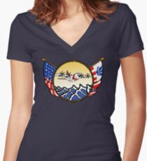 Flags Series - US Coast Guard C-130 Hercules Fitted V-Neck T-Shirt