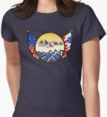 Flags Series - US Coast Guard C-130 Hercules Fitted T-Shirt