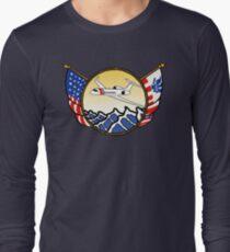 Flags Series - US Coast Guard HU-25 Guardian Long Sleeve T-Shirt
