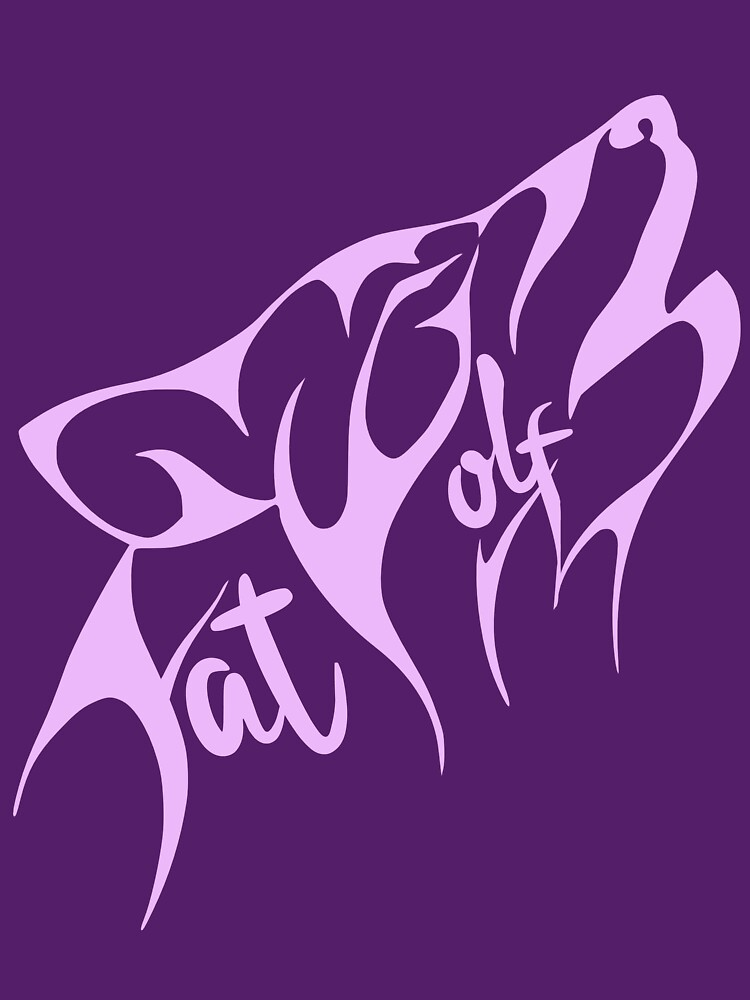 Fat Wolf - Stylised Pink by danbadgeruk