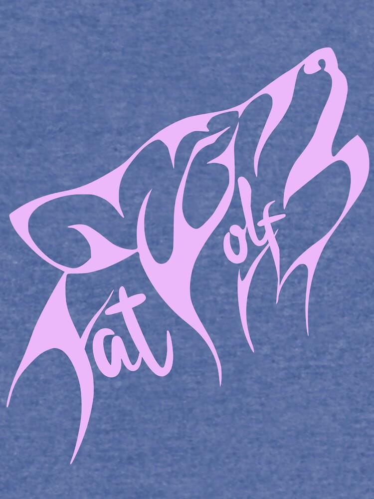 Fat Wolf - Stylised Pink by danbadgeruk
