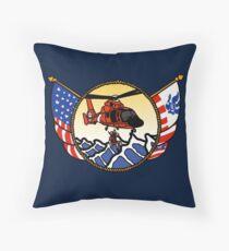 Flags Series - US Coast Guard HH-65 Swimmer Hoist Throw Pillow