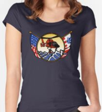Flags Series - US Coast Guard HH-65 Swimmer Hoist Fitted Scoop T-Shirt