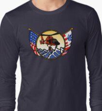 Flags Series - US Coast Guard HH-65 Swimmer Hoist Long Sleeve T-Shirt