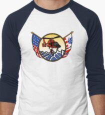 Flags Series - US Coast Guard HH-65 Swimmer Hoist Baseball ¾ Sleeve T-Shirt