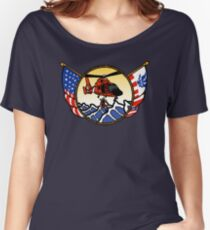 Flags Series - US Coast Guard HH-65 Swimmer Hoist Relaxed Fit T-Shirt