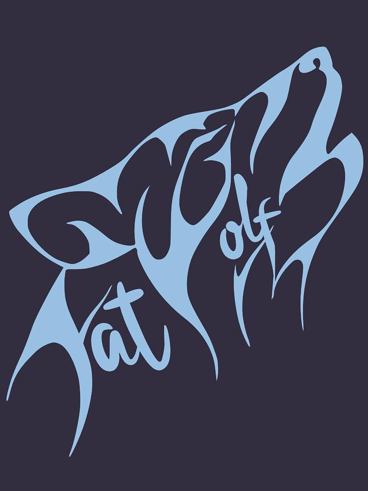 Fat Wolf - Stylised Blue by danbadgeruk