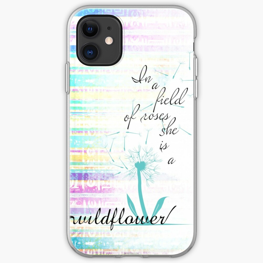 She is a Wildflower iPhone Soft Case