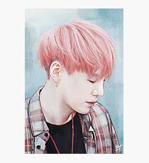 Fluffy Pink Yoongi Photographic Print