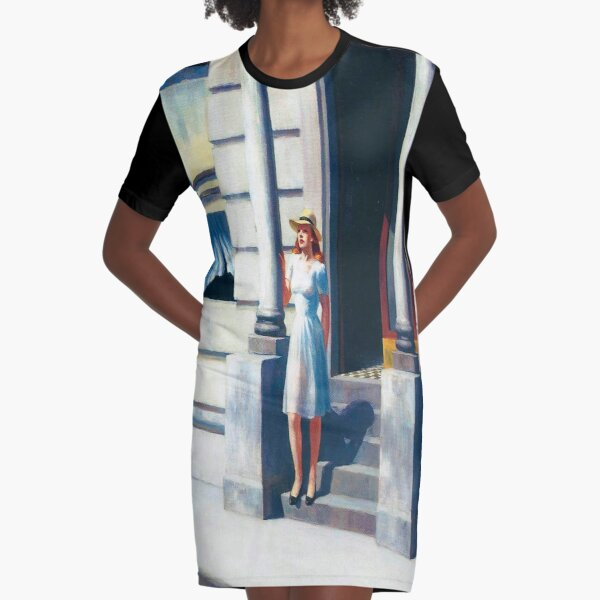 Summertime-Edward Hopper Graphic T-Shirt Dress