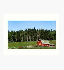 Canadian Red Barn Art Print