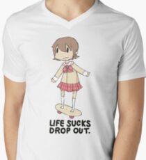 life sucks drop out Men's V-Neck T-Shirt