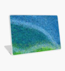 Dandelions in the Mower digital abstract painting Laptop Skin