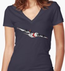 US Coast Guard C-130 Hercules Fitted V-Neck T-Shirt