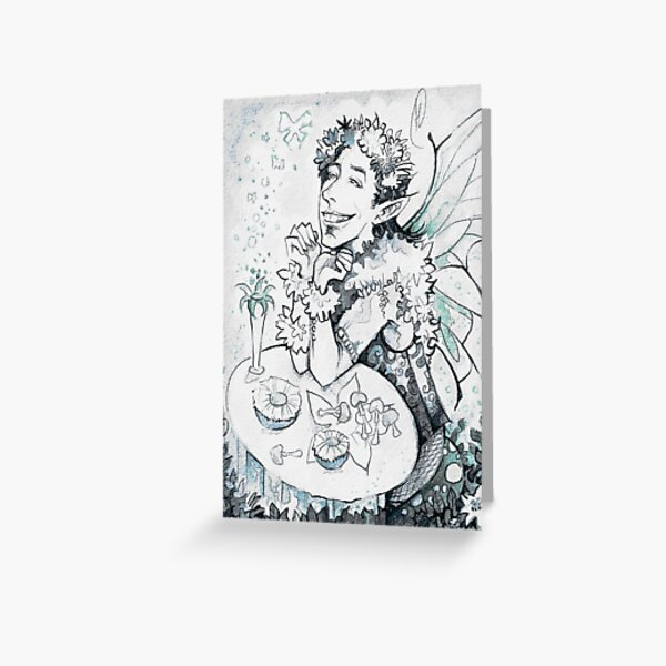 Fairy Mushrooms Greeting Card