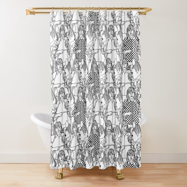 woman with horse Shower Curtain