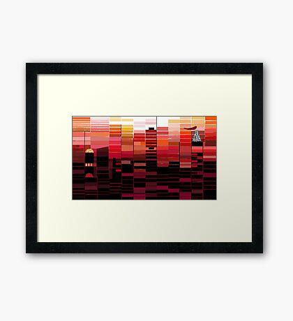 """Sunrise"" - Morning colors over the city. Framed Print"