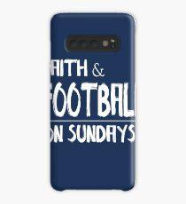 Faith and Football on Sundays Case/Skin for Samsung Galaxy