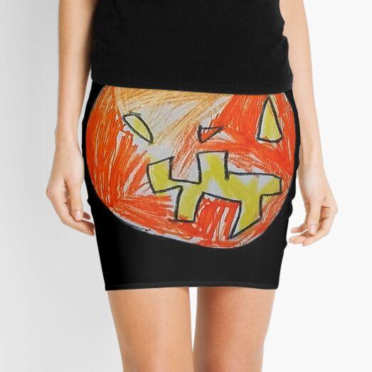 Pumpkin Face #01 Mini Skirt