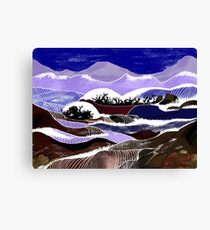 """Blending Waters""  - The streams down the mountains. Canvas Print"
