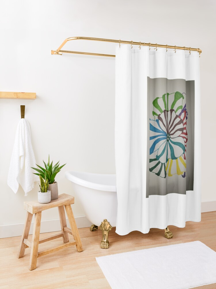 Alternate view of 3D color Shower Curtain
