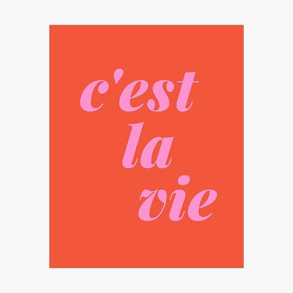 C'est La Vie French Quote Typography  Photographic Print