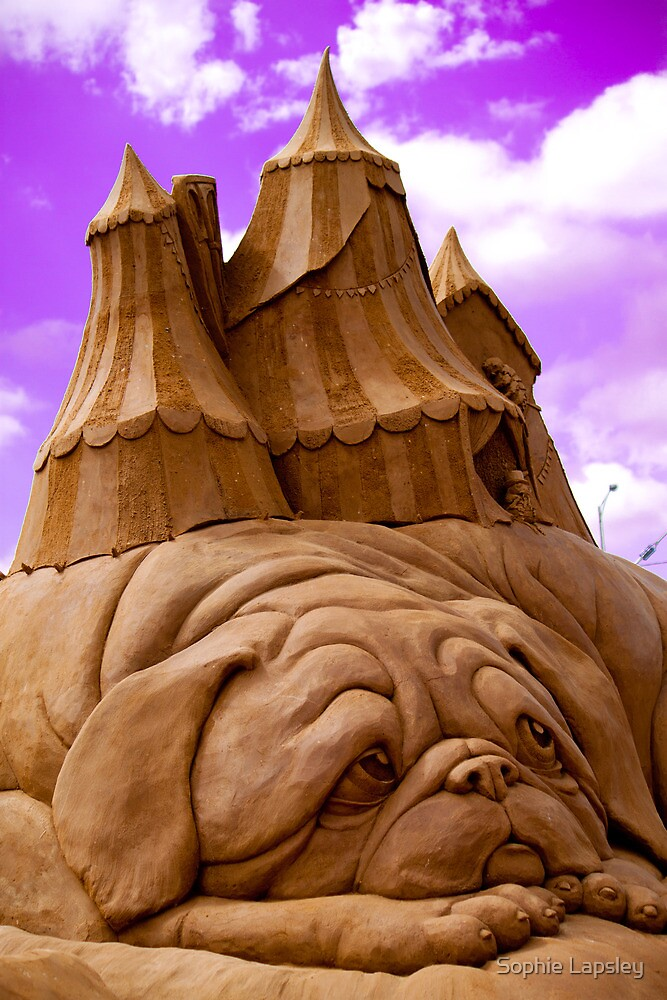 """""""Sculptures in sand""""  by Sophie Lapsley"""