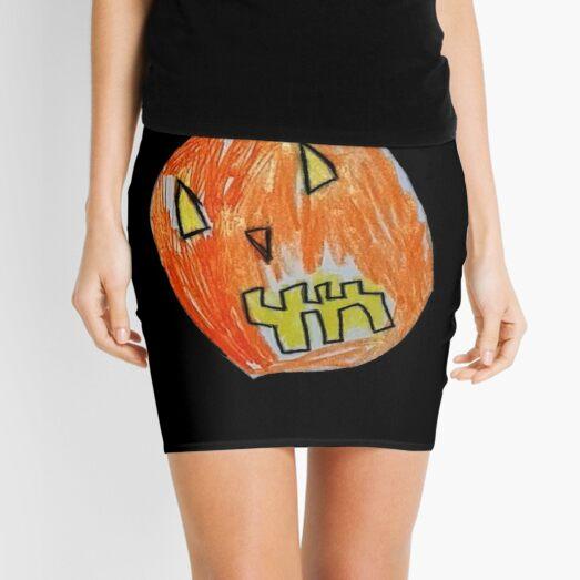 Pumpkin Face #02 Mini Skirt