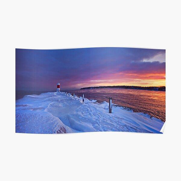 Lake effect sunrise - Rochester NY Poster