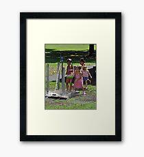 Kids Playing Framed Print