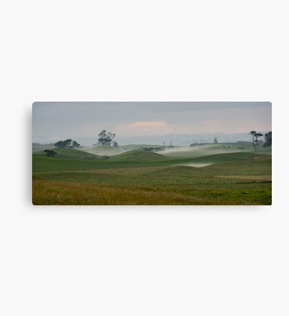 Misty morning - Northland NZ Canvas Print