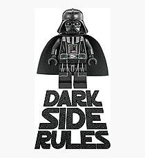 Dark side lego Photographic Print