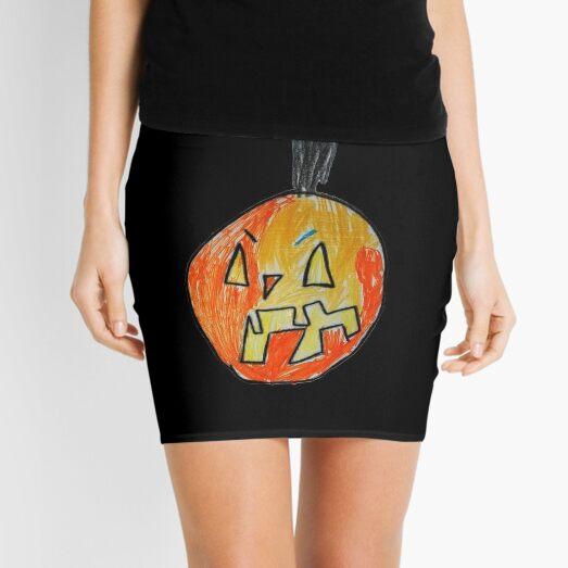 Pumpkin Face #03 Mini Skirt