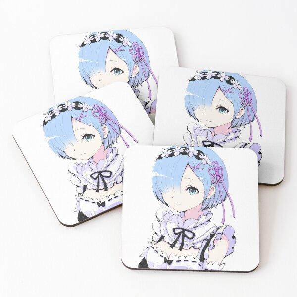 Rem super cute Coasters (Set of 4)