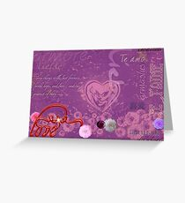 Love Hearts Words that Inspire Greeting Card