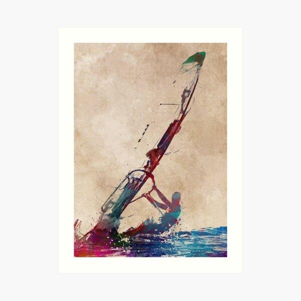 windsurfing sport art #windsurfing #sport Art Print