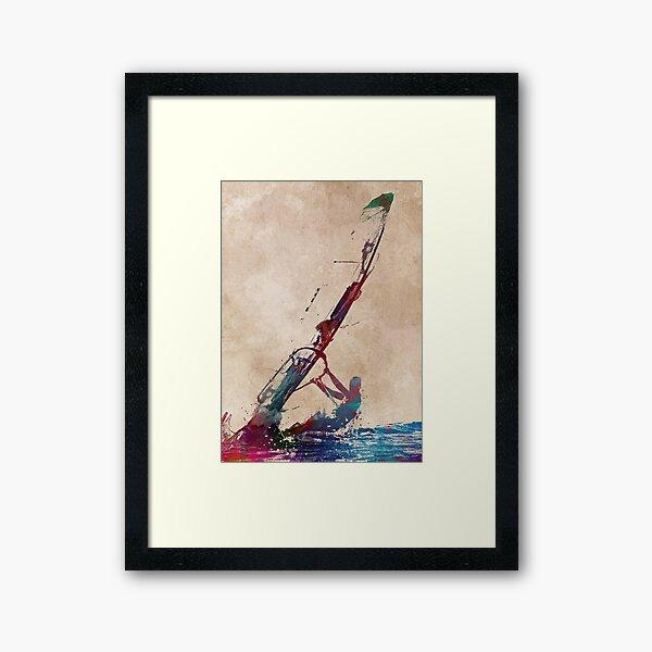 windsurfing sport art #windsurfing #sport Framed Art Print