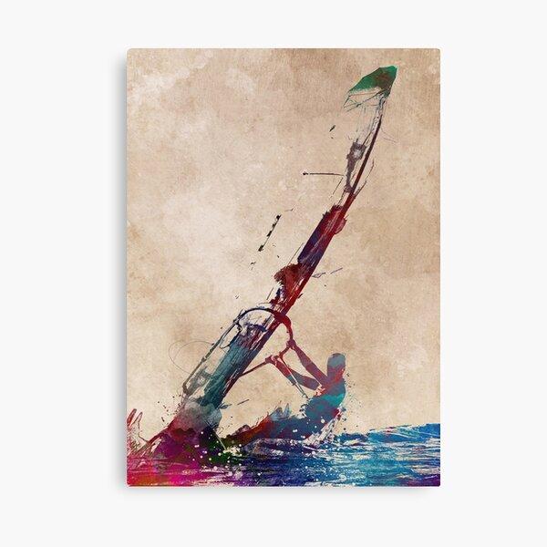 windsurfing sport art #windsurfing #sport Canvas Print