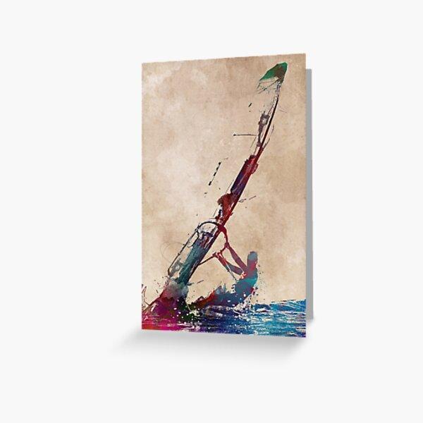 windsurfing sport art #windsurfing #sport Greeting Card