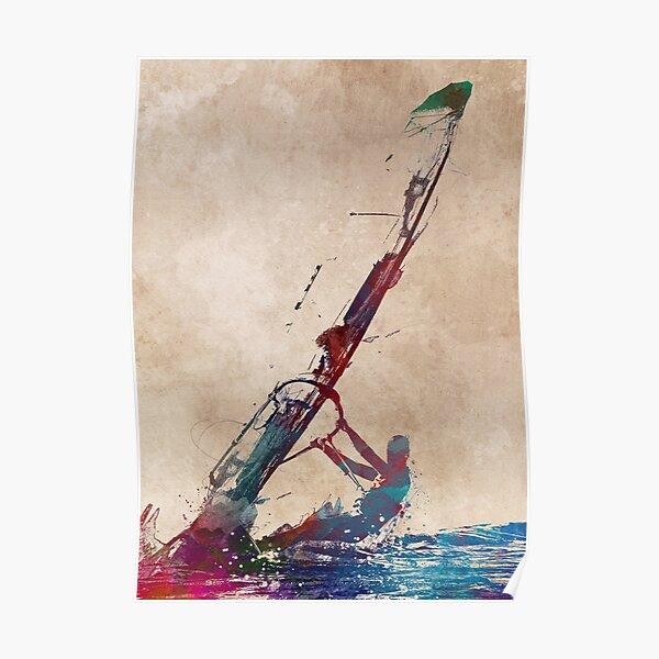 windsurfing sport art #windsurfing #sport Poster