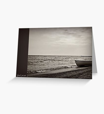 find peace. Greeting Card